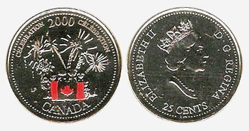 25 cent 2000 - Celebrations - Canada Day