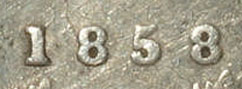 5 cents 1858 - Small date
