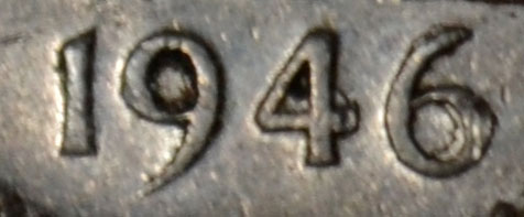 5 cents 1946 - Double 6
