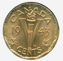 1 cent 1943 - Tombac